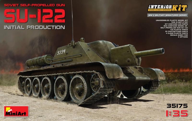 САУ СУ-122 первых выпусков с интерьером MiniArt 35175