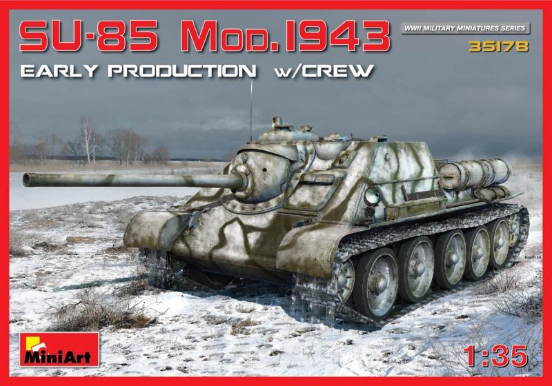 САУ СУ-85 с экипажем, ранняя версия MiniArt 35178
