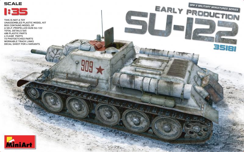 САУ СУ-122 ранних выпусков MiniArt 35181