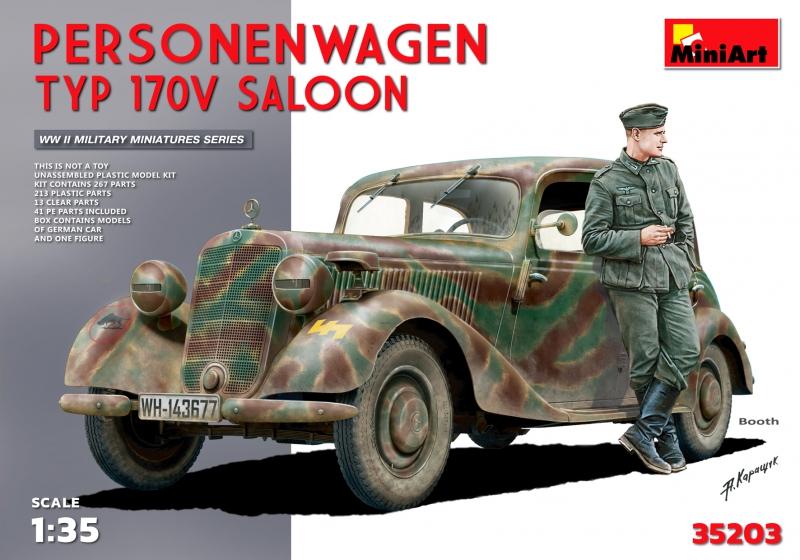 Немецкий автомобиль Personenwagen Typ 170V Saloon MiniArt 35203