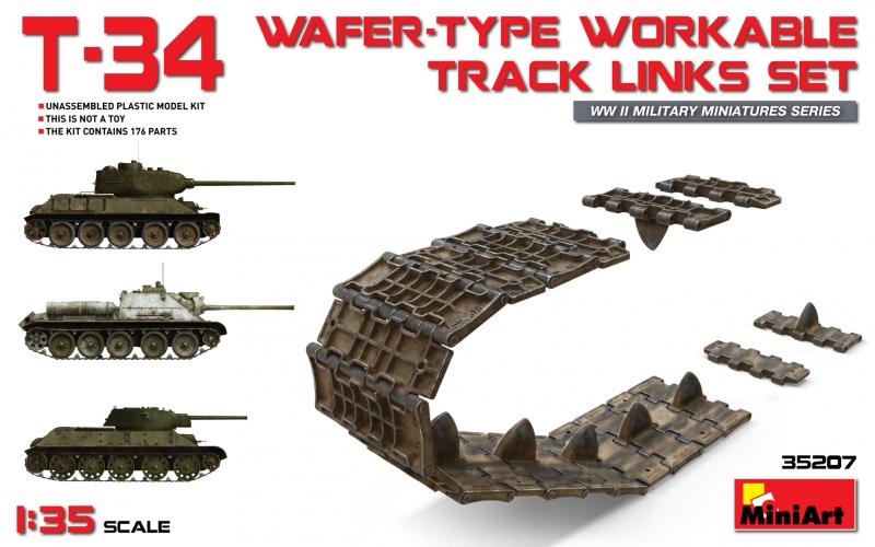 Набор рабочих траков для T-34/85, Т-34/76, САУ СУ-85, САУ СУ-100, САУ СУ-122 MiniArt 35207