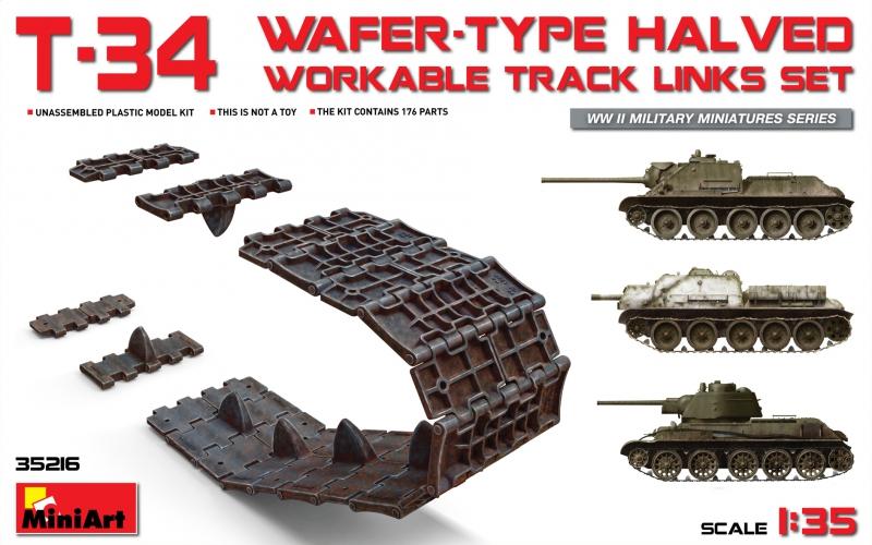 Набор рабочих траков для Т-34, СУ-122, СУ-85 (половинчатые) MiniArt 35216