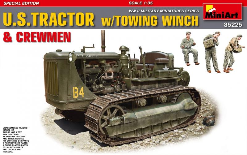 Американский тяжелый трактор с буксирной лебедкой и фигурами экипажа MiniArt 35225