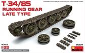 Набор деталировки: Ходовая часть для танка Т-34/85 позднего выпуска