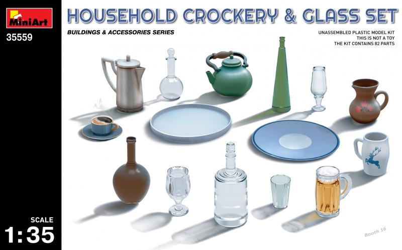 Набор бытовой посуды MiniArt 35559