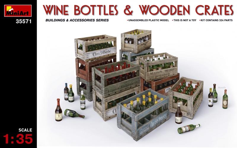 Винные бутылки с ящиками MiniArt 35571