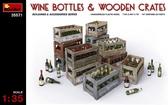 Винные бутылки с ящиками