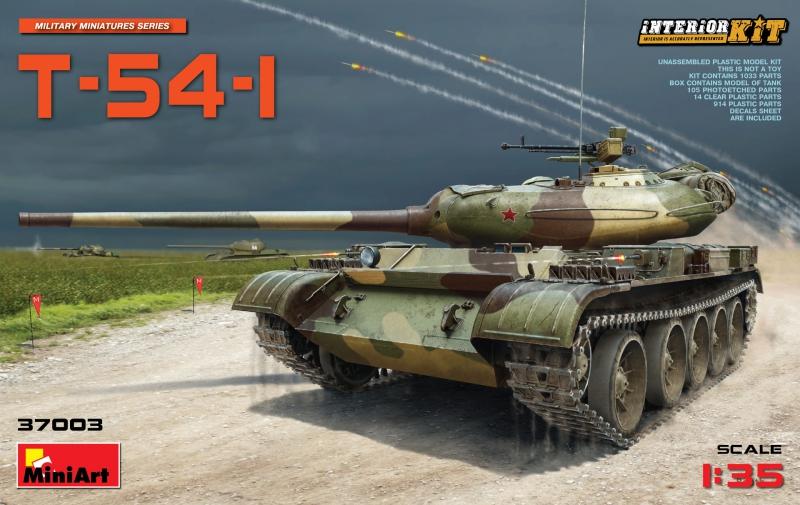 Советский средний танк T-54-1 с полным интерьером MiniArt 37003