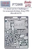 Набор деталей для танка Challenger 1, 1-й танковой дивизии, Ирак, 1991 (Revell/ACE)