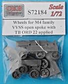 Катки для семейства танков M4, VVSS open spoke with TB ORD 22 applied
