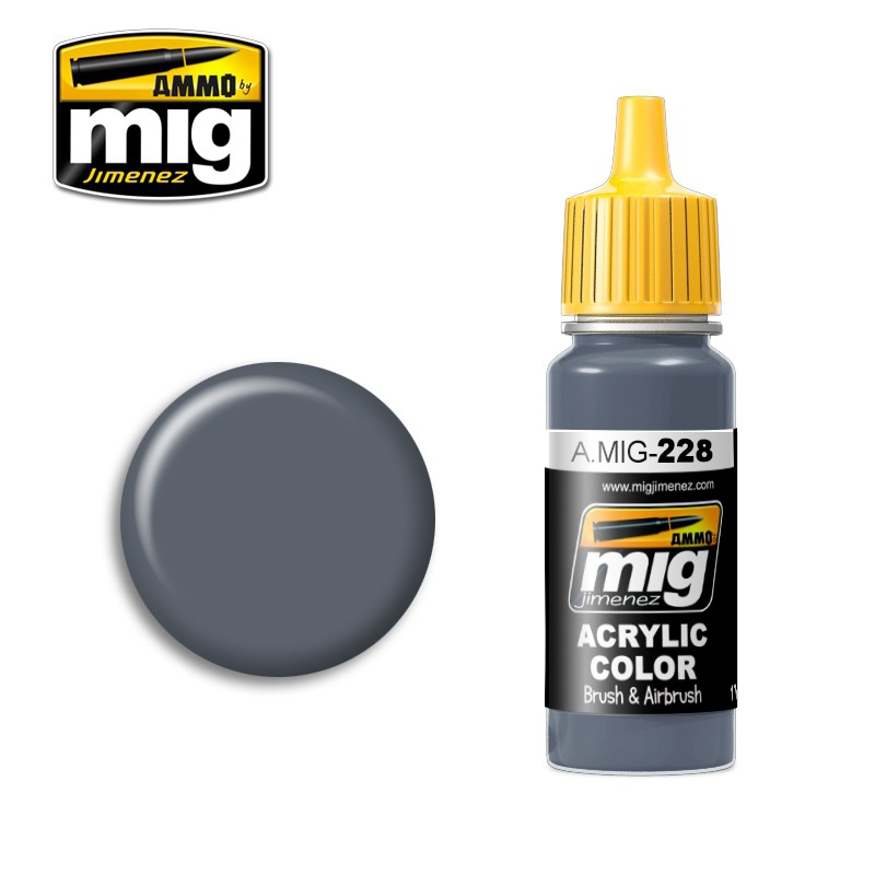 Акриловая краска AMMO A-MIG-0228: Промежуточный синий FS 35164 MIG (AMMO) 0228