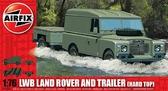 Автомобиль LWB Land Rover с прицепом