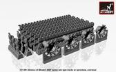 Траки для M1 Abrams, поздний тип (hollow teeth) с ведущими колесами
