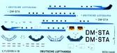 Декаль для самолета Ил-18 (Deutsche Lufthansa)