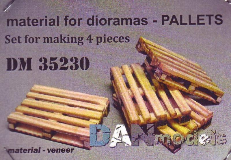 Набор шпона для сборки поддонов, 4шт (деревьянные) DAN models 35230