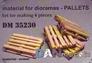 Набор шпона для сборки поддонов, 4шт (деревьянные) DAN models 35230 основная фотография
