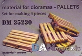 Набор шпона для сборки поддонов, 4шт (деревьянные)