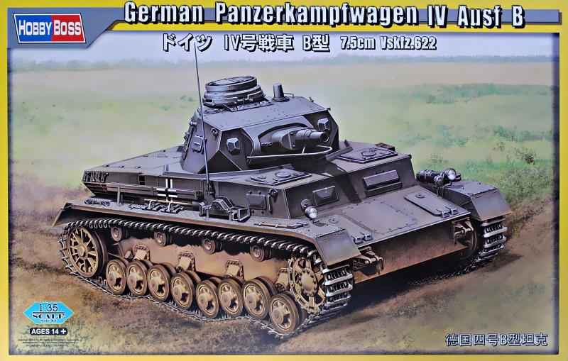 Немецкий танк Panzerkampfwagen IV Ausf B Hobby Boss 80131