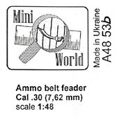 Пулеметные ленты. Калибр .30 (7,62 мм), 8 шт