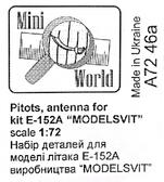 Трубка ''Пито'' и антена для модели самолета E-152A (ModelSvit)