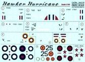 Декаль для самолета Hurricane MK I Aces ''Битва за Британию''