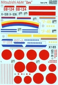 Декаль для самолета Mitsubishi A6M Zero