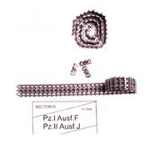 Металлические траки для Pz.I Ausf.F, Pz.II Ausf.J (собранные в ленту)