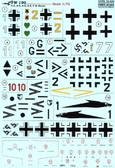 Декаль для самолетов Fw 190 A-3, A-4, A-5, A-6, F & Recon