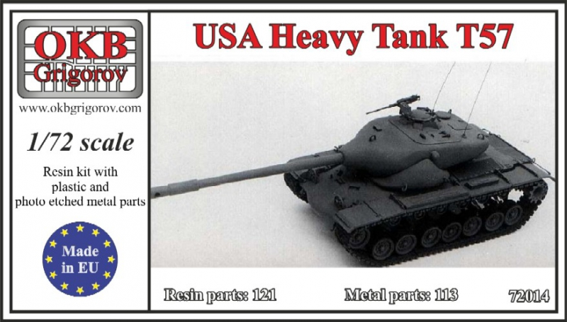 Американский тяжелый танк Т-57 OKB Grigorov 72014