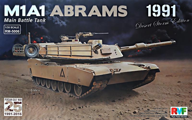 Американский танк M1A1 Abrams, война в персидском заливе, 1991-2016 г. Rye Field Model 5006