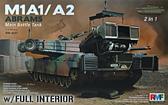 Американский танк M1A1/A2 Abrams с полным интерьером