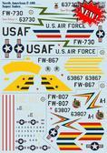 Декаль для самолета F-100 ''Super Sabre''