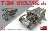 Двигатель V-2-34 с трансмиссией для танка Т-34