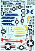 Декаль для самолета Grumman F9F Panther, часть 2