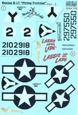 Декаль для самолета Boeing B-17 Flying Fortress, часть 2