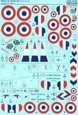 Декаль для самолетов Nieuport 10, 11, 16