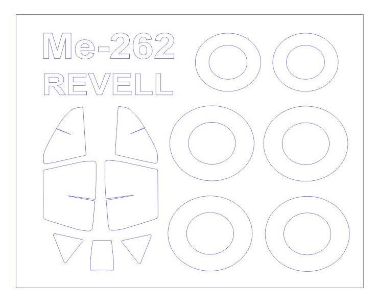 Маска для модели самолета Me-262A (Revell) KV Models 72092