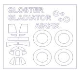 Маска для модели самолета Gloster Gladiator (Airfix)