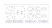 Маска для модели самолета Hawker Sea Hawk (Special Hobby)