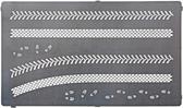 Фототравление: Трафарет для нанесения следов от автопокрышек и сапог, 2 вида