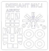 Маска для модели самолета Boulton Paul Defiant Mk.1 выпуска 2015 года (Airfix)