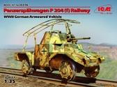 Железнодорожный германский бронеавтомобиль Panzerspahwagen P 204 (f), II МВ