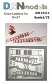 Фототравление: Стремянки для самолета Су-27