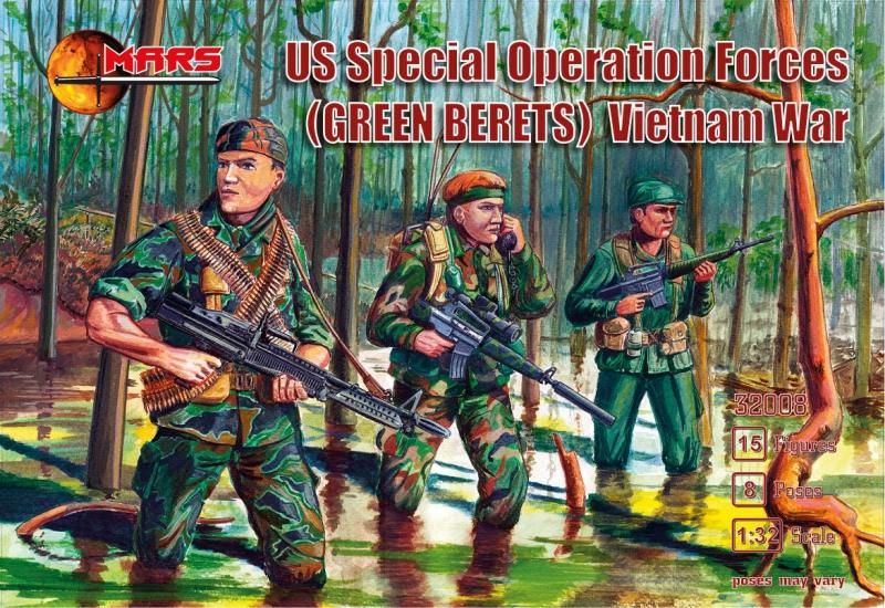 Войска спецназа США (Зеленые береты), вьетнамская война Mars Figures 32008