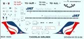 Декаль для самолета Douglas DC-9 Yugoslav Airlines