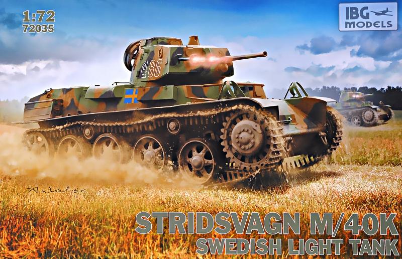 Шведский легкий танк Stridsvagn M/40K IBG Models 72035