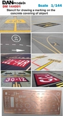 Фототравление: Трафарет для нанесения разметки на бетонке аэропорта