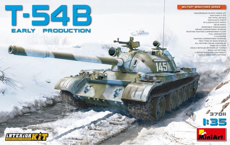 Советский средний танк T-54Б, ранних выпусков MiniArt 37011
