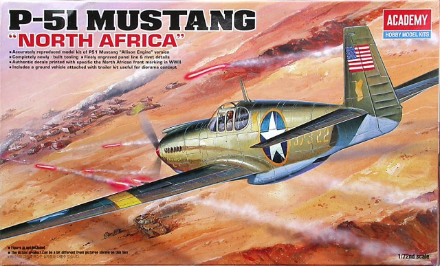 Истребитель P-51 Mustang ''North Africa' Academy 12401