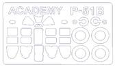 Маска для модели самолета P-51B Mustang ''North Africa'' (Academy)